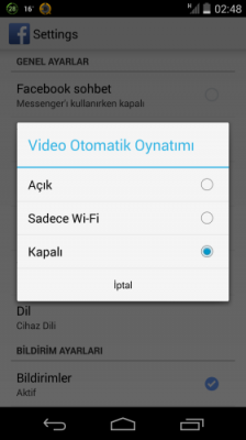 android-facebook-video-ayar